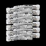Sibel Pinces Sépare-mèches en Aluminium 12 pcs