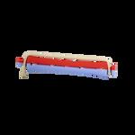 Sibel BI-COLOR Permanentwikkels Kort 9mm Blauw-Rood 12 Stk.