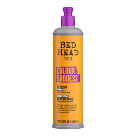 Tigi Bed Head Colour Goddess Shampooing Infusé Huiles Naturelles Cheveux Colorés 400ml